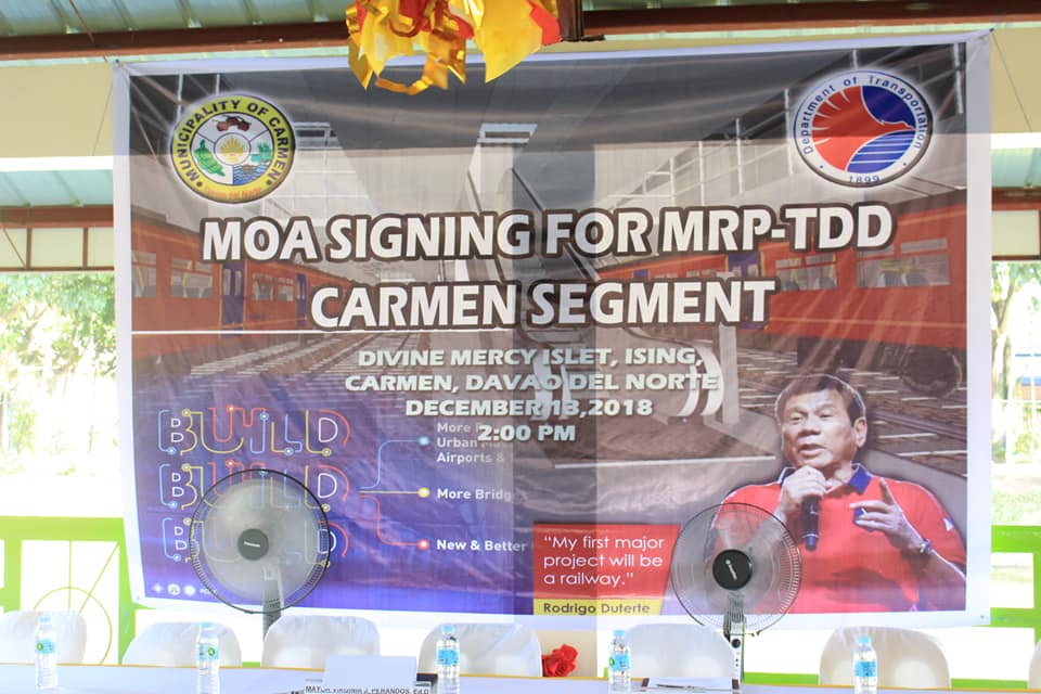 Dec. 13, 2018 – MOA Signing for MRP-TDD Carmen Segment with Eymard D. Eje Asec