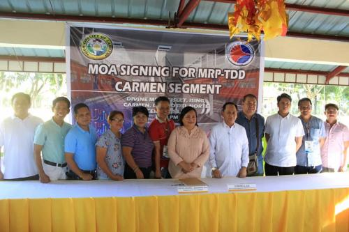MOA Signing for MRP-TDD Carmen Segment with Eymard D. Eje Asec